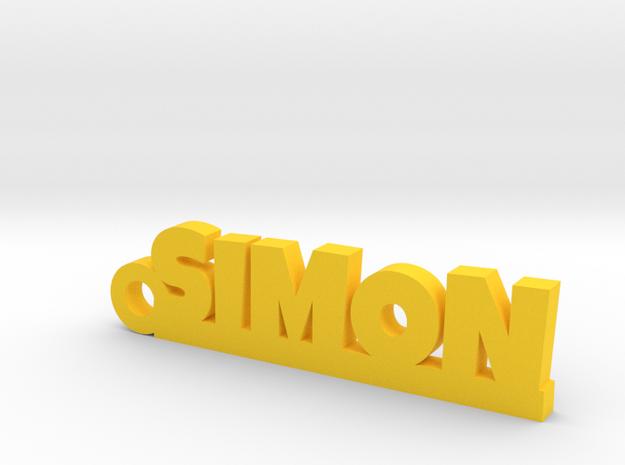SIMON Keychain Lucky in Yellow Processed Versatile Plastic