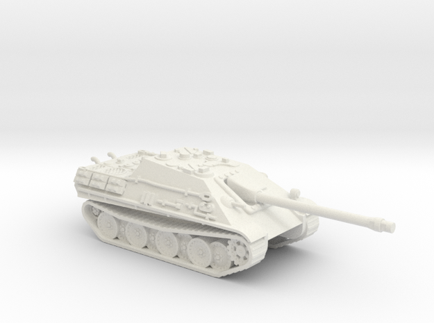 Jagdpanther tank (Germany) 1/100 in White Natural Versatile Plastic