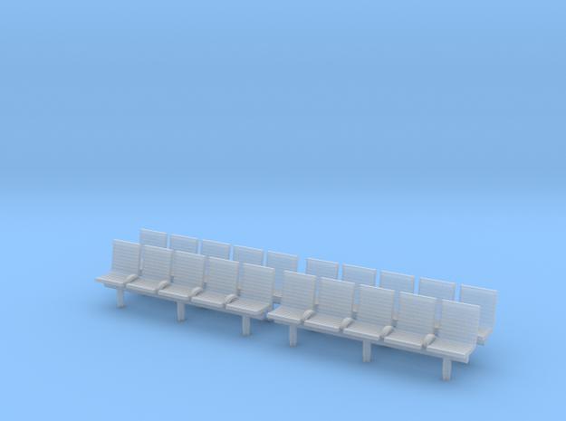 TJ-H04553x4 - bancs de quai 5 places avec dossier in Frosted Ultra Detail