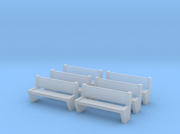TJ-H04554x6 - bancs de quai en beton in Smooth Fine Detail Plastic