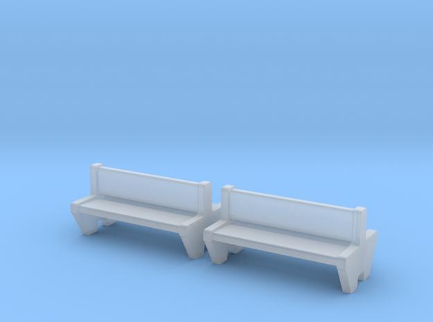 TJ-H04555x2 - bancs de quai en beton, doubles in Smooth Fine Detail Plastic
