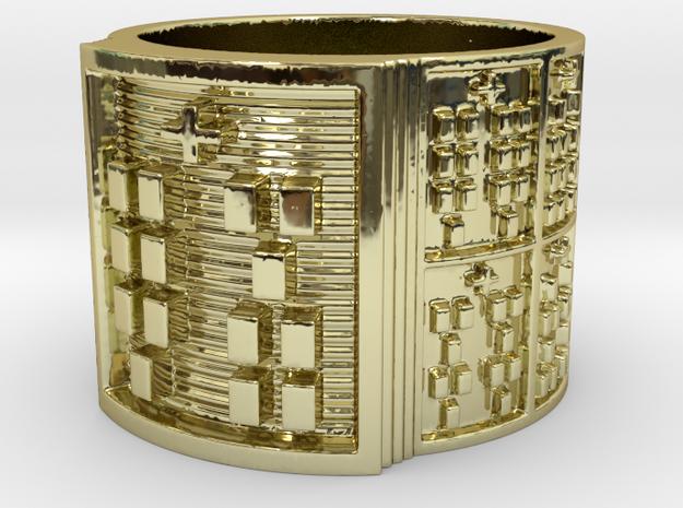 IKAKANA Ring Size 14 in 18k Gold Plated Brass