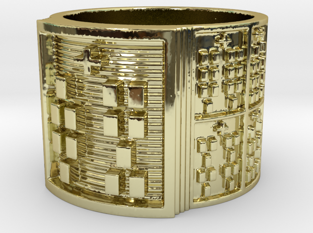 OTRUPONDI Ring Size 14 in 18k Gold Plated Brass