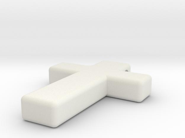 Cross Pendant in White Strong & Flexible