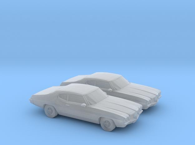 1/160 2X 1968-72 Pontiac Le Mans in Smooth Fine Detail Plastic