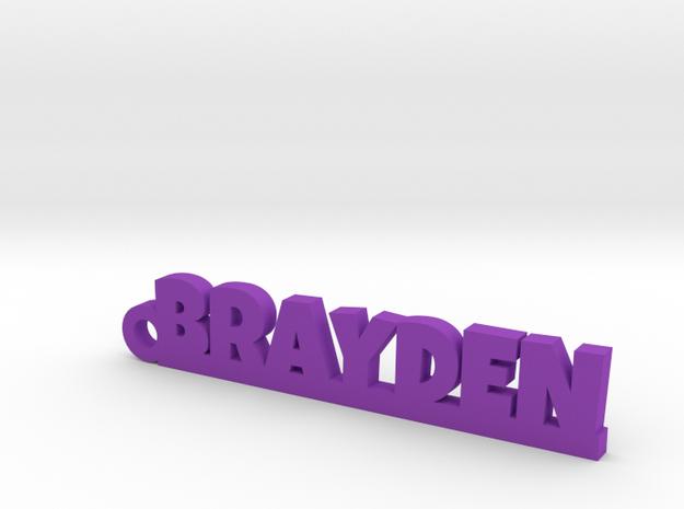 BRAYDEN Keychain Lucky in Purple Processed Versatile Plastic