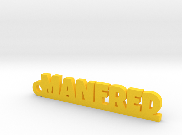 MANFRED Keychain Lucky in Yellow Processed Versatile Plastic
