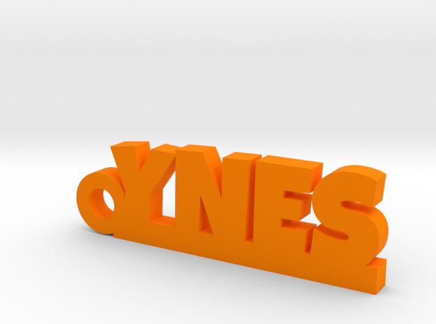 YNES Keychain Lucky in Orange Processed Versatile Plastic
