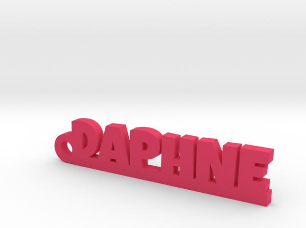 DAPHNE Keychain Lucky in Pink Processed Versatile Plastic