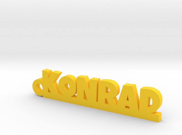 KONRAD Keychain Lucky in Yellow Processed Versatile Plastic