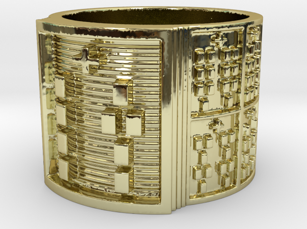 OTURANIKO Ring Size 14 in 18k Gold Plated Brass