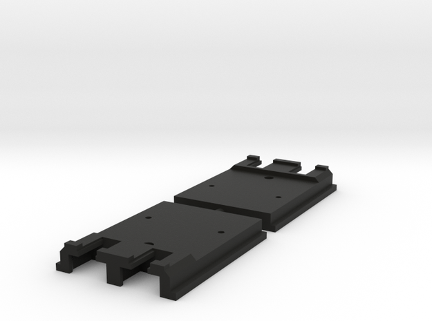 "Kato Unijoiner adapter for Peco 009 track ""on-top"" in Black Natural Versatile Plastic"