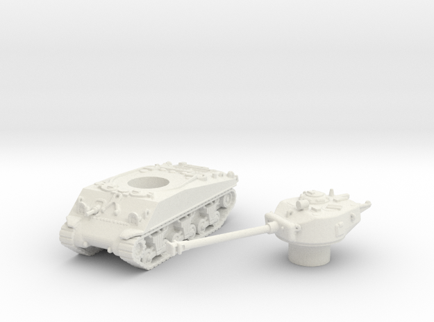 M4 Sherman Tank (Usa) 1/144 in White Natural Versatile Plastic
