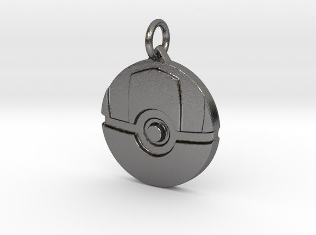 Ultra ball pendant in Polished Nickel Steel