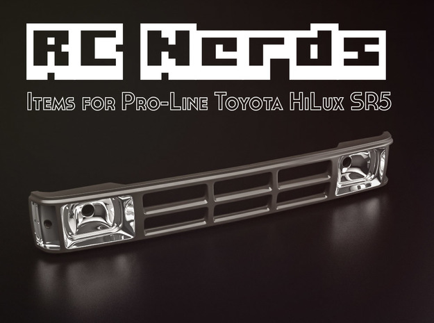 RCN001 Grill for Pro-Line Toyota SR5  in White Natural Versatile Plastic