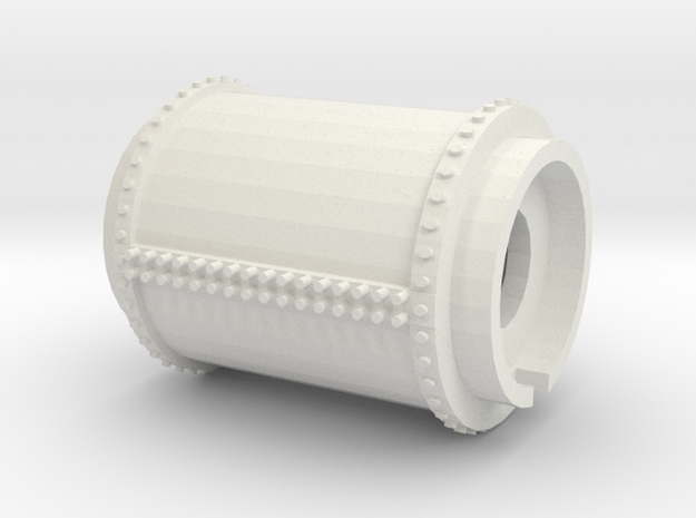 Part 2 - Gas Tank (Left hand) midsection in White Natural Versatile Plastic