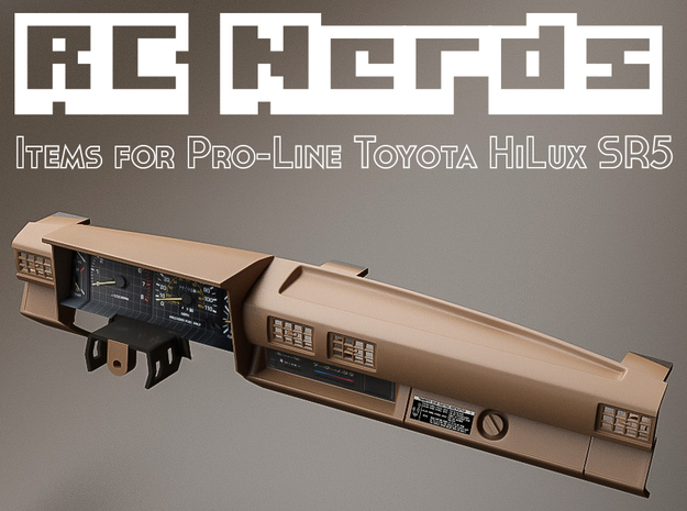 RCN009 dashboard for Pro-Line Toyota SR5  in White Natural Versatile Plastic