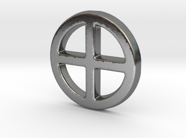 Crossed Circe in Polished Silver