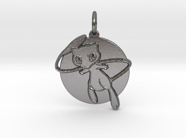 Mew pendant in Polished Nickel Steel