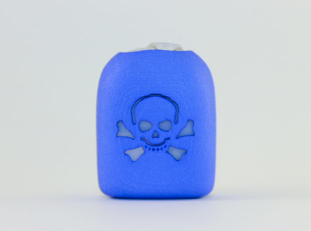 Skull and Crossbones - Omnipod Pod Cover in Blue Processed Versatile Plastic