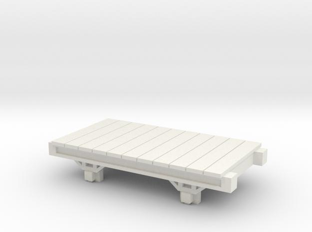 OO9 Narrow Gauge Conflat / Flatbed - Talyllyn / SR in White Natural Versatile Plastic