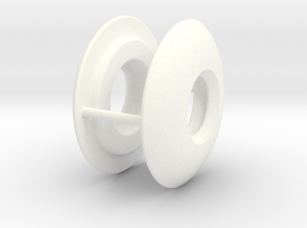 DLUX KNUCKLE SLIDERS (PAIR) in White Strong & Flexible Polished