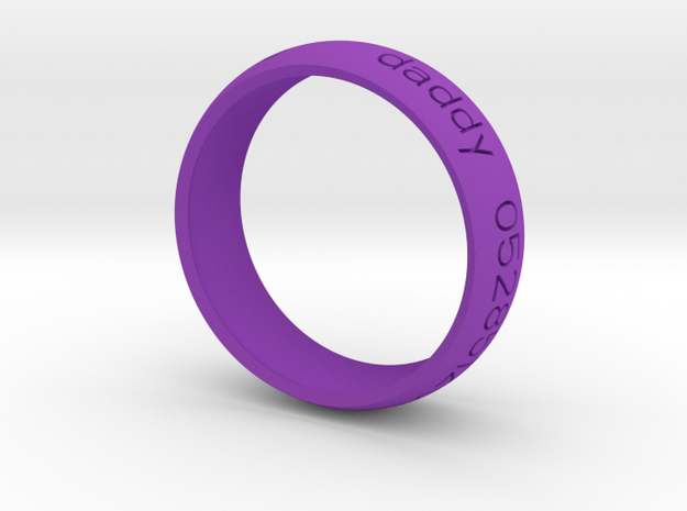 Braclet1 in Purple Strong & Flexible Polished