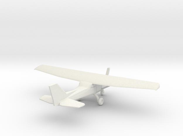 Cessna 172 - 1:200scale in White Natural Versatile Plastic