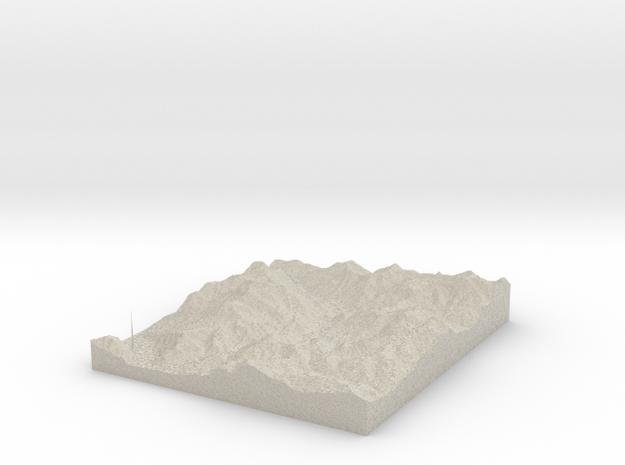 Model of Pasturo in Natural Sandstone