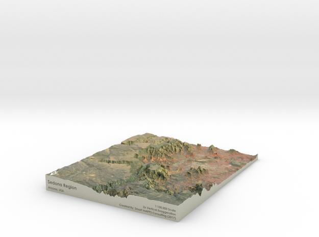 Sedona Arizona Map: 8.5x11 in Coated Full Color Sandstone
