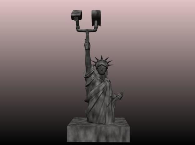 Liberty bust 3d printed Render of figure