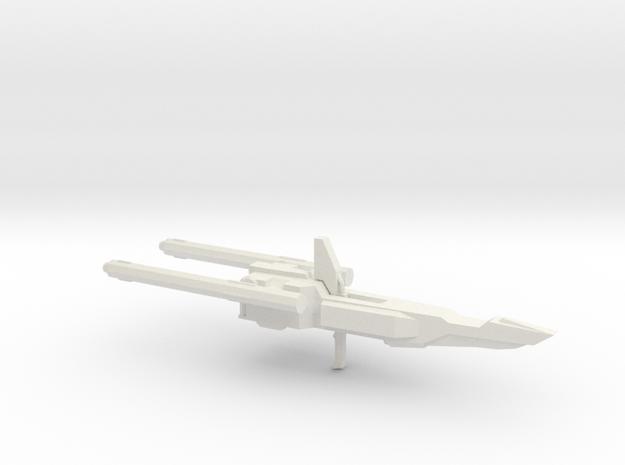 MSZ-010 Double Zeta Gundam Double Beam Rifle 1:100 in White Natural Versatile Plastic