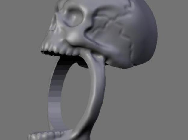 Skull Ring (size 12) 21,3mm 3d printed Viewport render