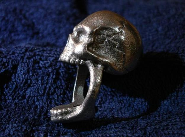 Skull Ring (size 12) 21,3mm 3d printed Photo of the smaller one