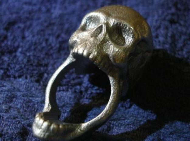 Skull Ring (size 12) 21,3mm in Stainless Steel