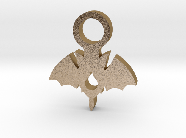 Vampire Pendant  in Polished Gold Steel