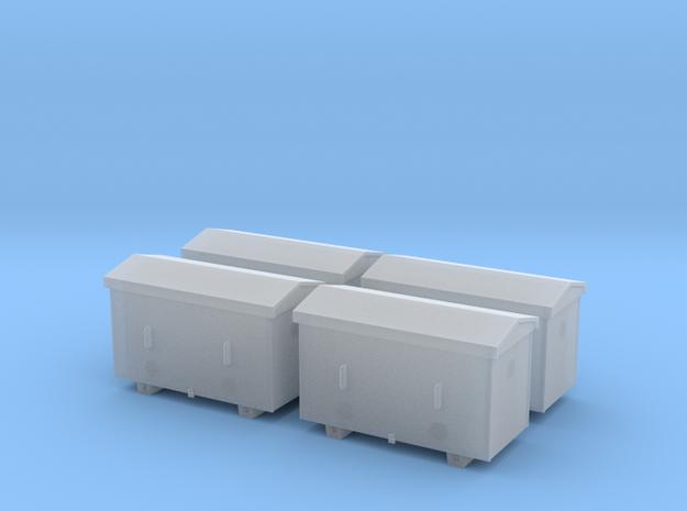 TJ-H04651x4 - Caisses à piles acier galvanisé gran in Frosted Ultra Detail