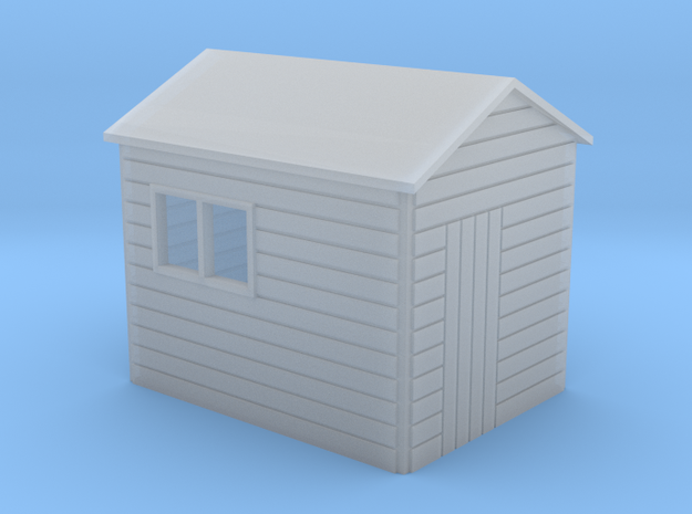 Garden shed Apex roof N gauge in Smooth Fine Detail Plastic