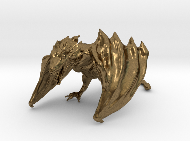 Game Of Thrones Dragon in Raw Bronze