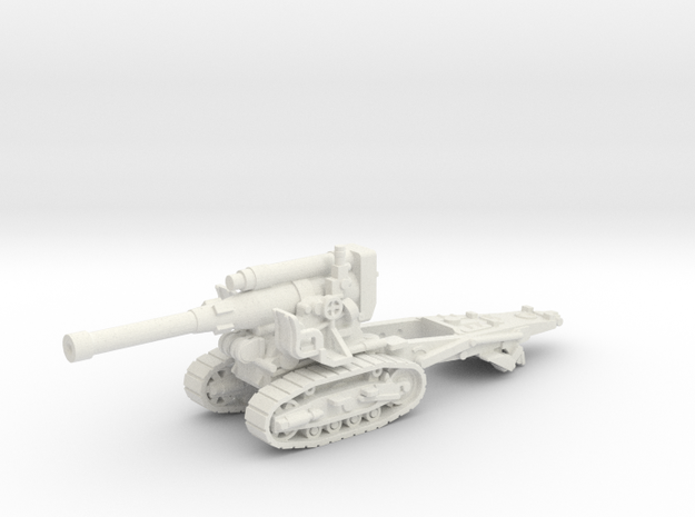 B-4 Soviet howitzer (Russia)-tractor 1/87 in White Natural Versatile Plastic