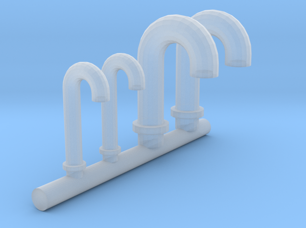 1/100 DKM Vent Tubes Set in Frosted Ultra Detail