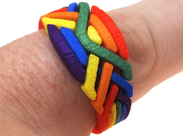 Rainbow Ring in White Processed Versatile Plastic