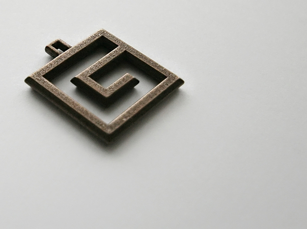 ABC Pendant - E/3 Type - Solid - 24x24x3 mm 3d printed