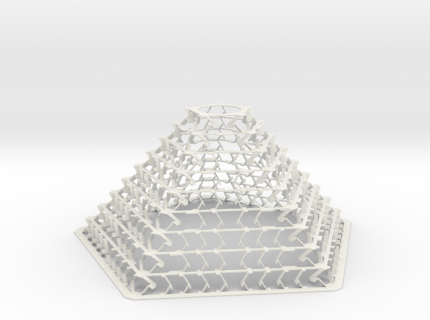 Pentagonal Pyramid Staggered for Led Bulb E27 Lamp