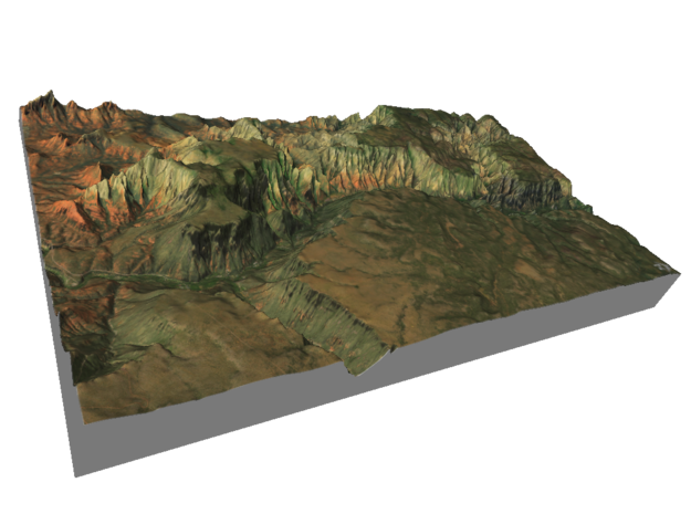 "Oak Creek Canyon Map: 7""x12"" in Matte Full Color Sandstone"