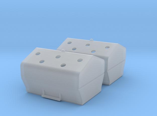 TJ-H01117x2 - Bennes à verre in Smooth Fine Detail Plastic