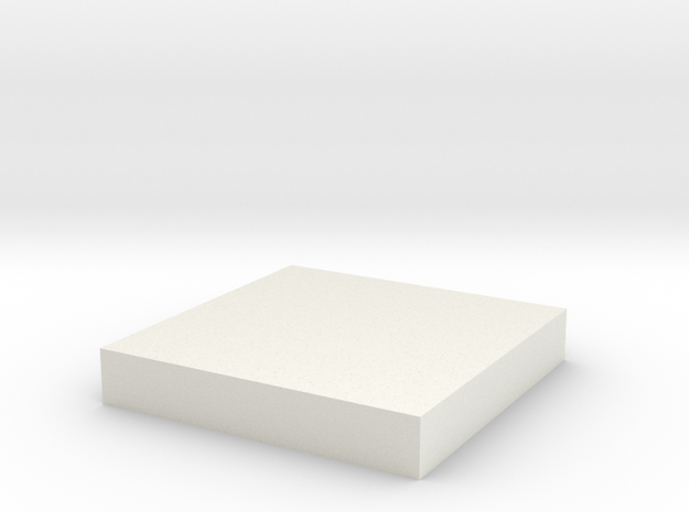 30mm Square in White Natural Versatile Plastic
