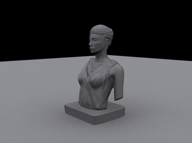 Female Bust 3d printed Render depicting the final resutl.