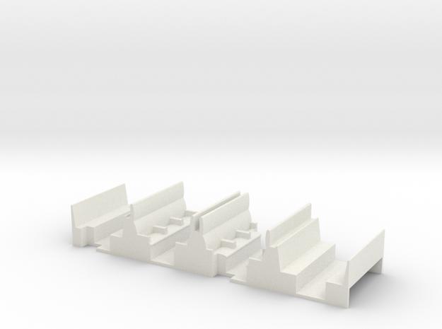 NSR 4 wheel Composite bodies interior seating unit in White Natural Versatile Plastic