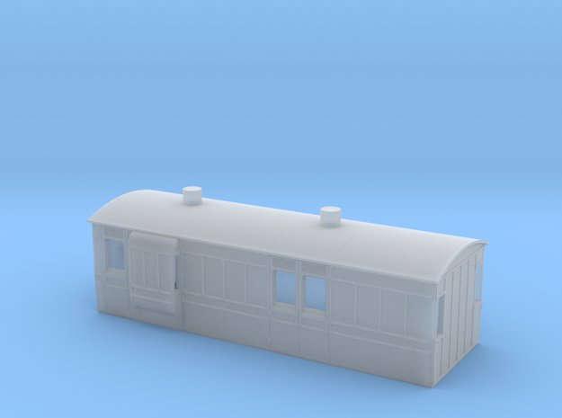 NSR 4wheel Hounds Van - 4mm scale in Smooth Fine Detail Plastic